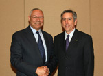 TIP Director Dr. Mike Allcott with Colin Powell