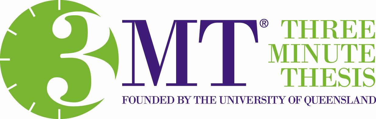 Three Minute Thesis - registered logo, founded by the University of Queensland