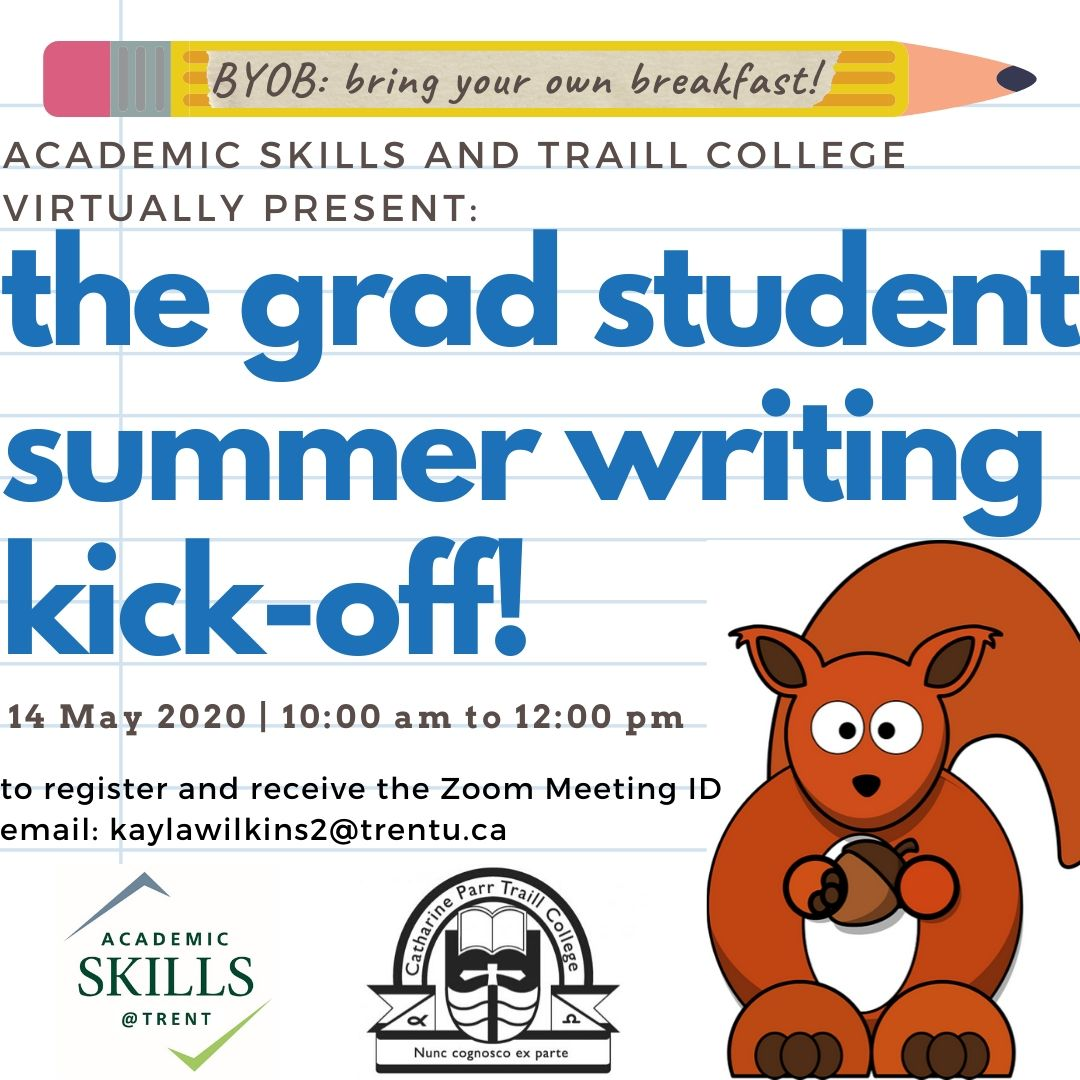 Writing Kick-off Event poster; all details in text below