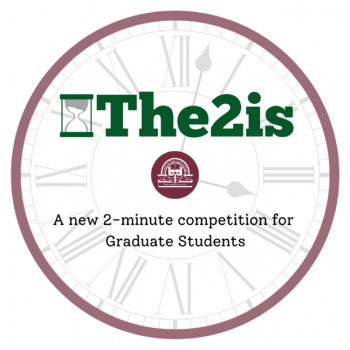 Clock logo for The2is: a new 2-minute competition for graduate students