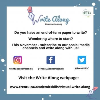 Write Along poster inviting participants