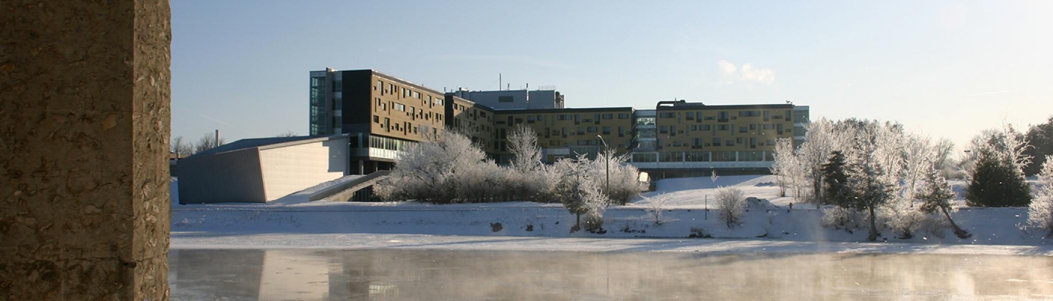 Peter Gzowski College in winter