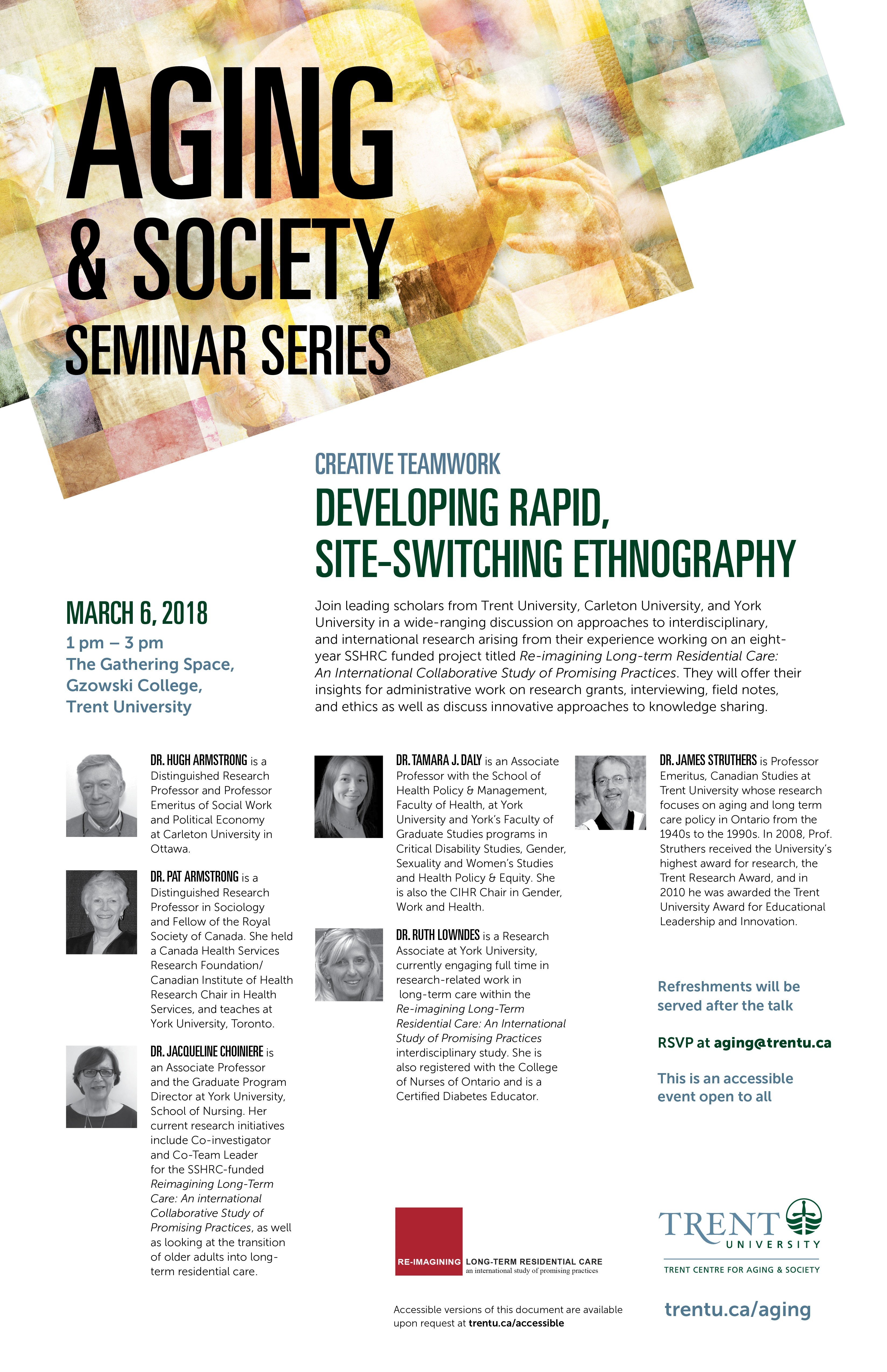 "Poster of the ""Developing Rapid, Site-switching Ethnography"" seminar"