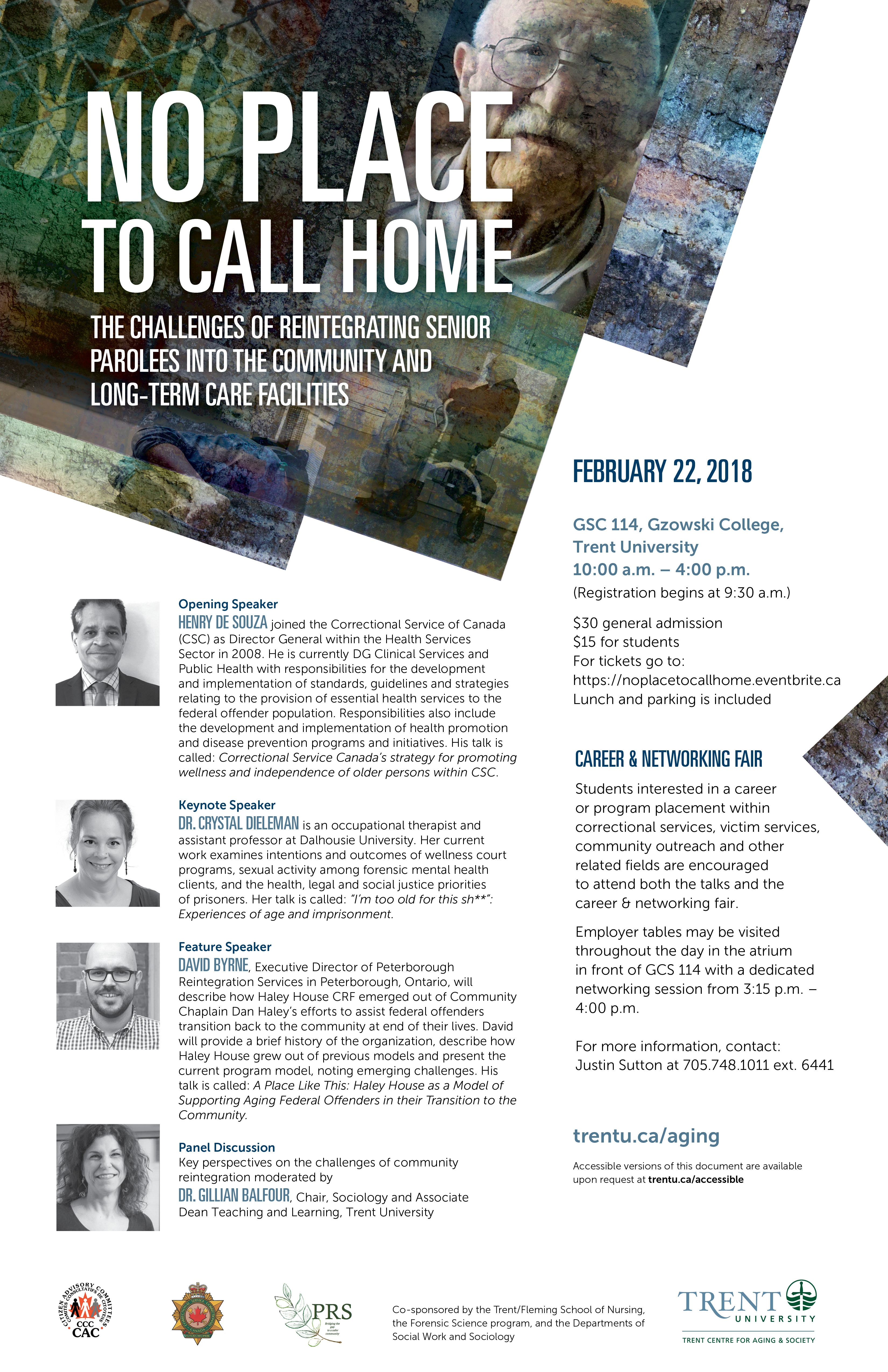"Poster of the ""No Place to Call Home"" talk"