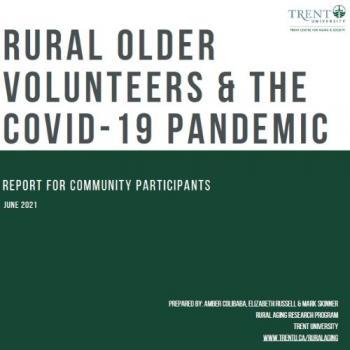Rural older volunteers & the Covid-19 Pandemic report cover