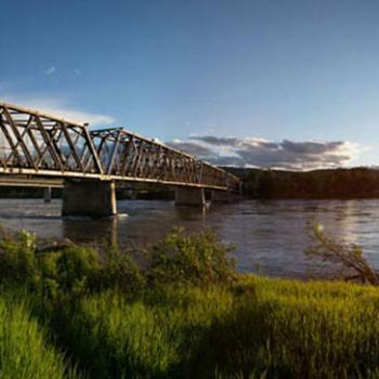 A bridge from a far
