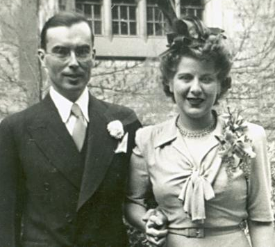 Kenneth and Martha Kidd at their wedding in 1943.