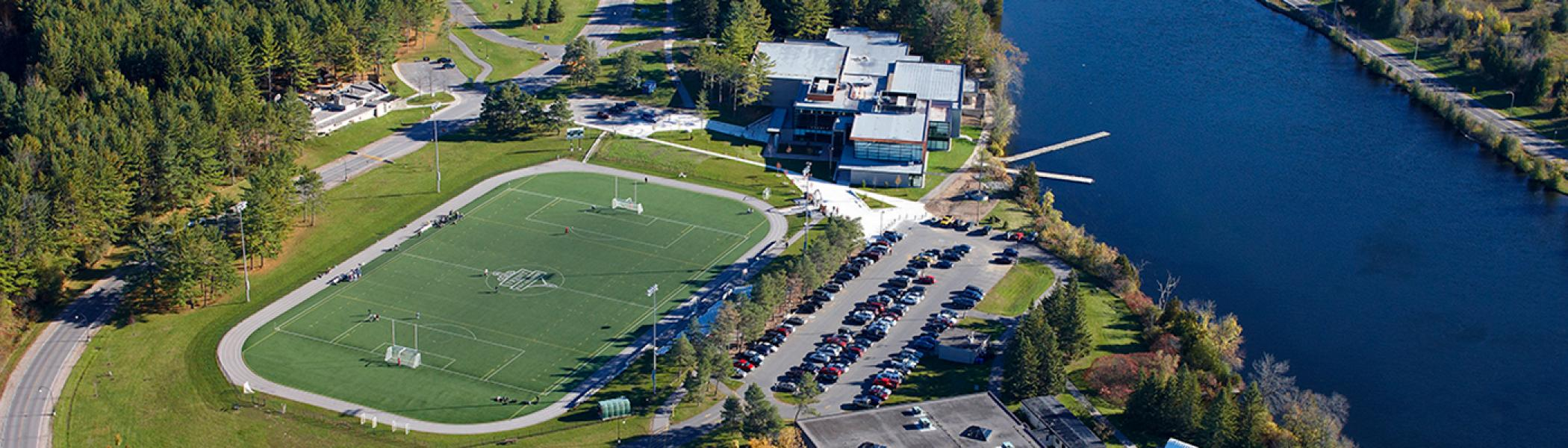 Aerial view of the Athletics Centre and Justin Chiu stadium