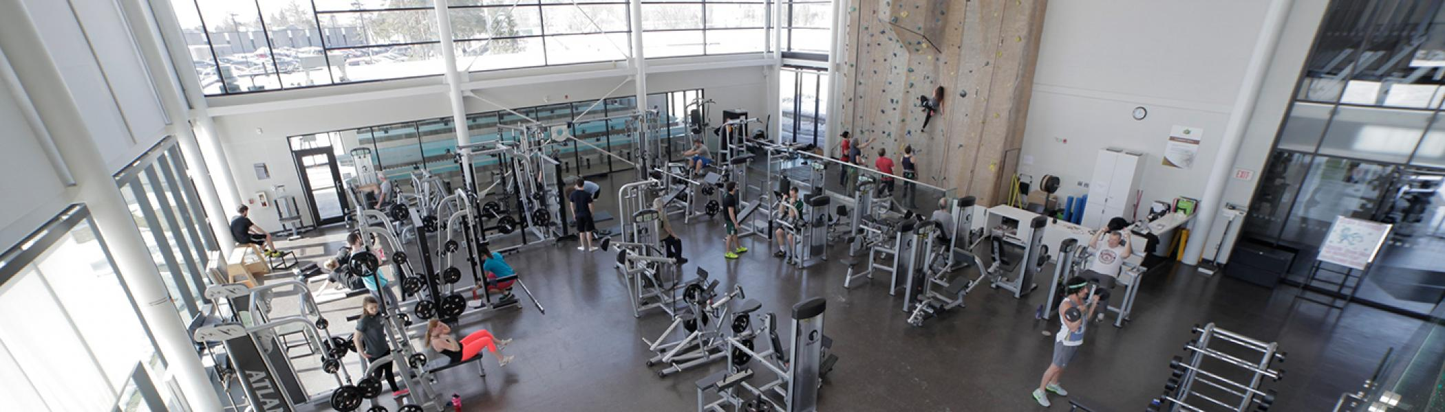 An overview of the Fitness Area at the Trent Athletics Centre