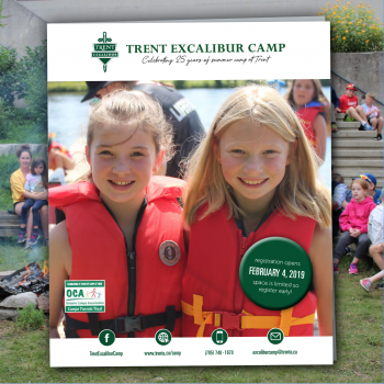 2019 Camp Program Cover with two girls in lifejackets smiling