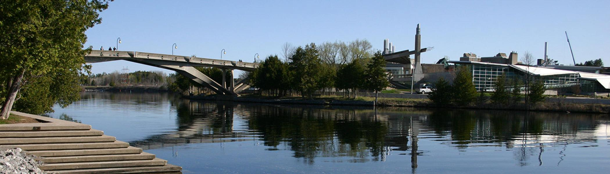 Faryon Bridge over the Otonabee River, Symons Campus