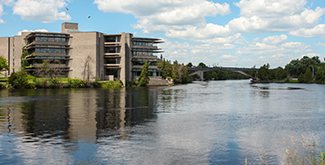 Bata library looking up the Otonabee river