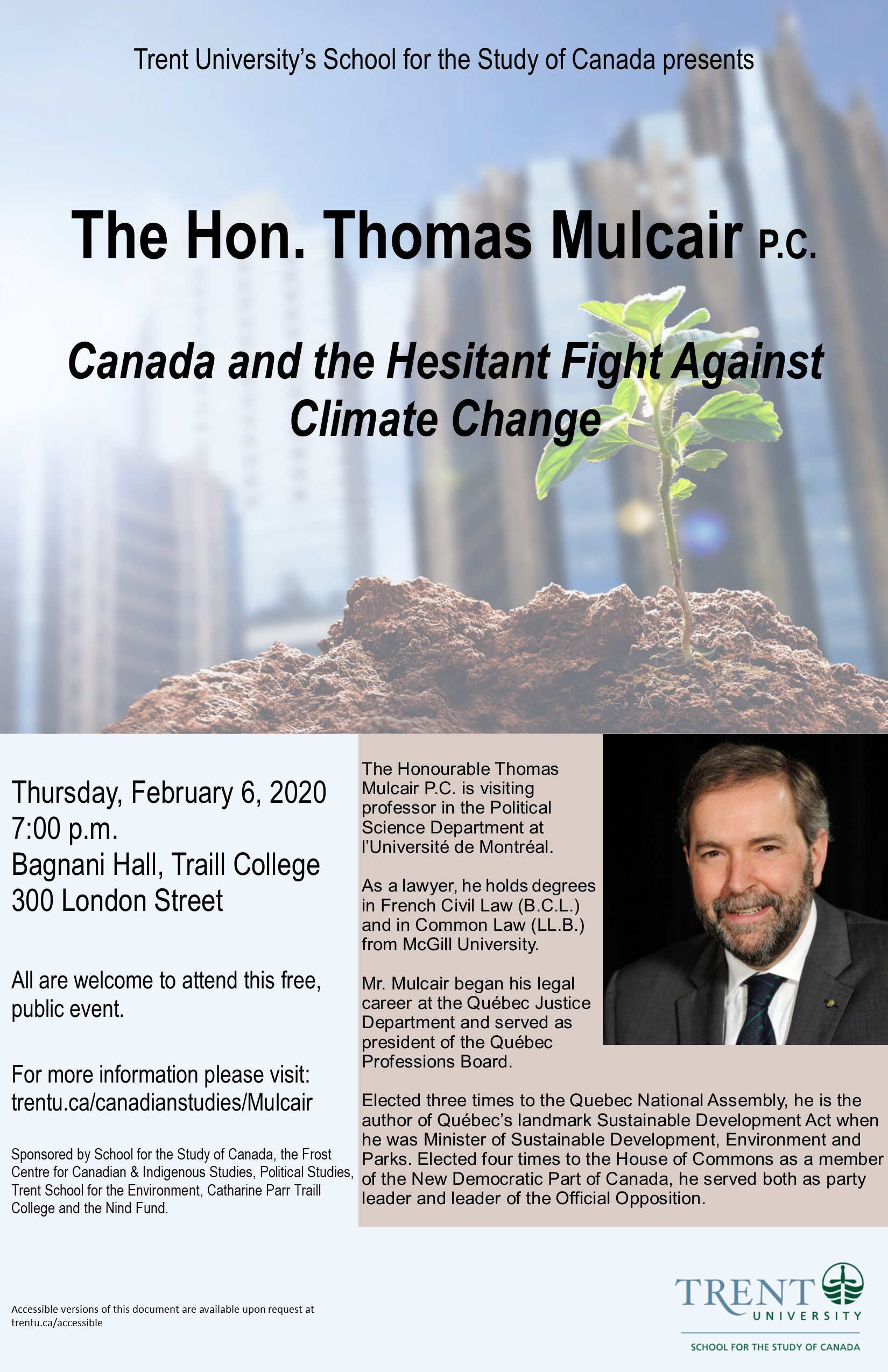 Canada and the Hesitant Fight Against Climate Change event poster