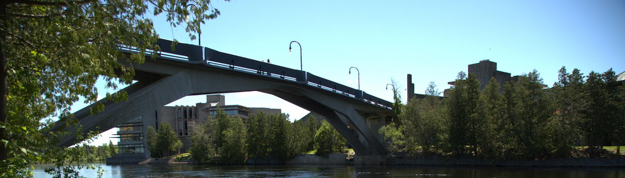 Trent University Fayron Bridge from a distance