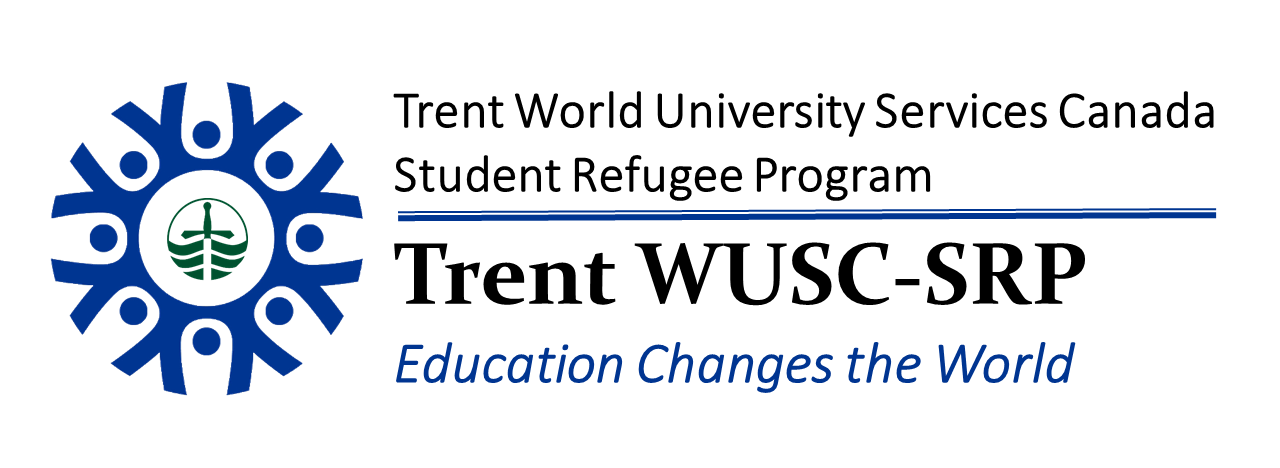 "WUSC SRP logo showing circle of people holding hands ""Education changes the world"""