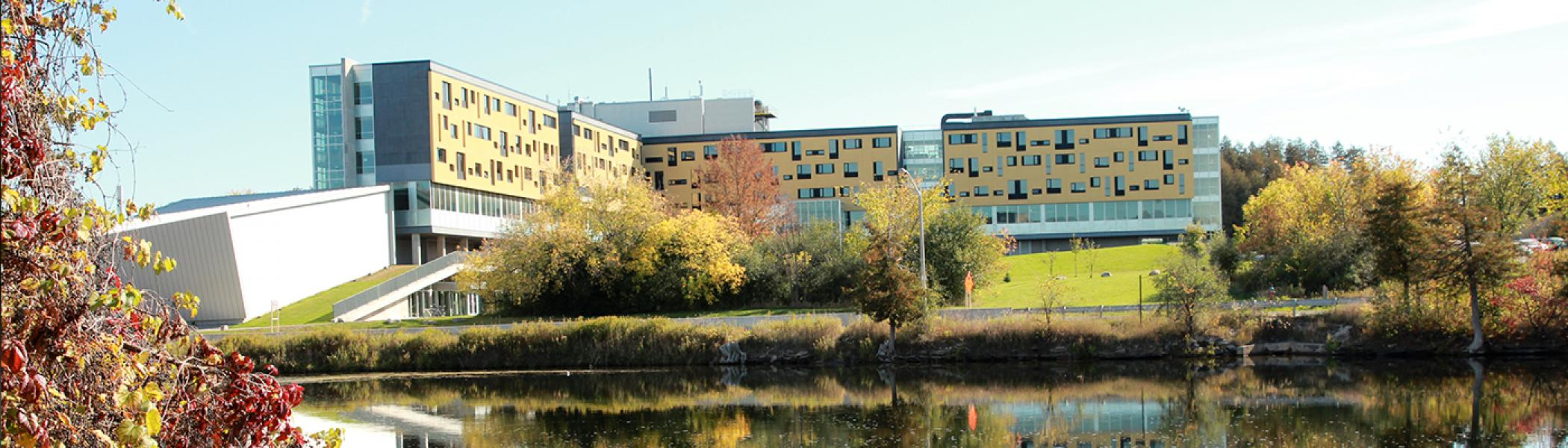 Gzowski College looking from across the river