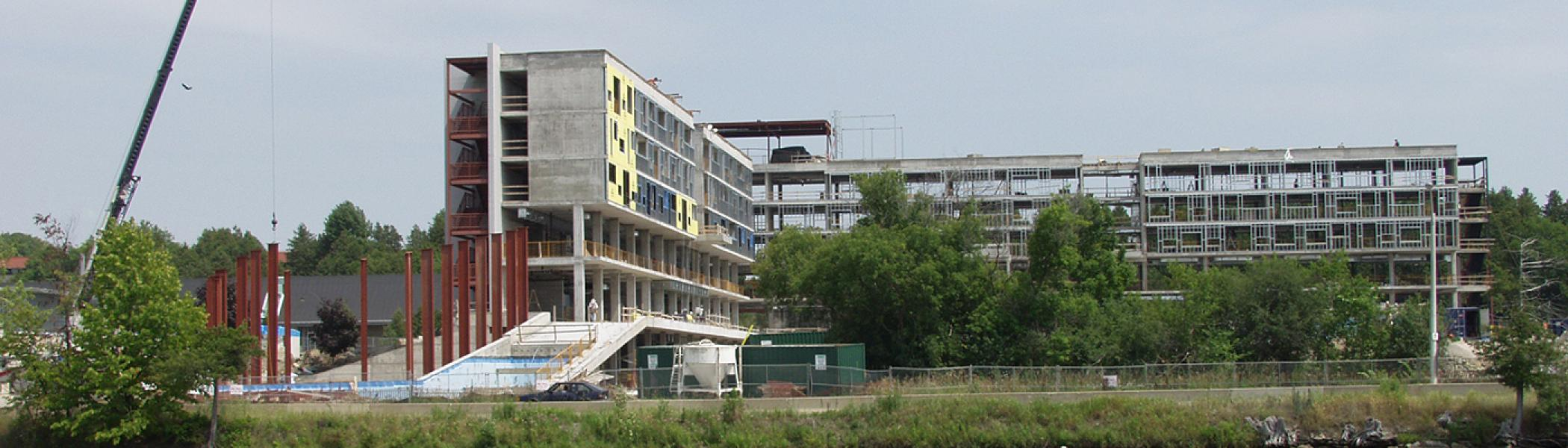 Image of the building under construction