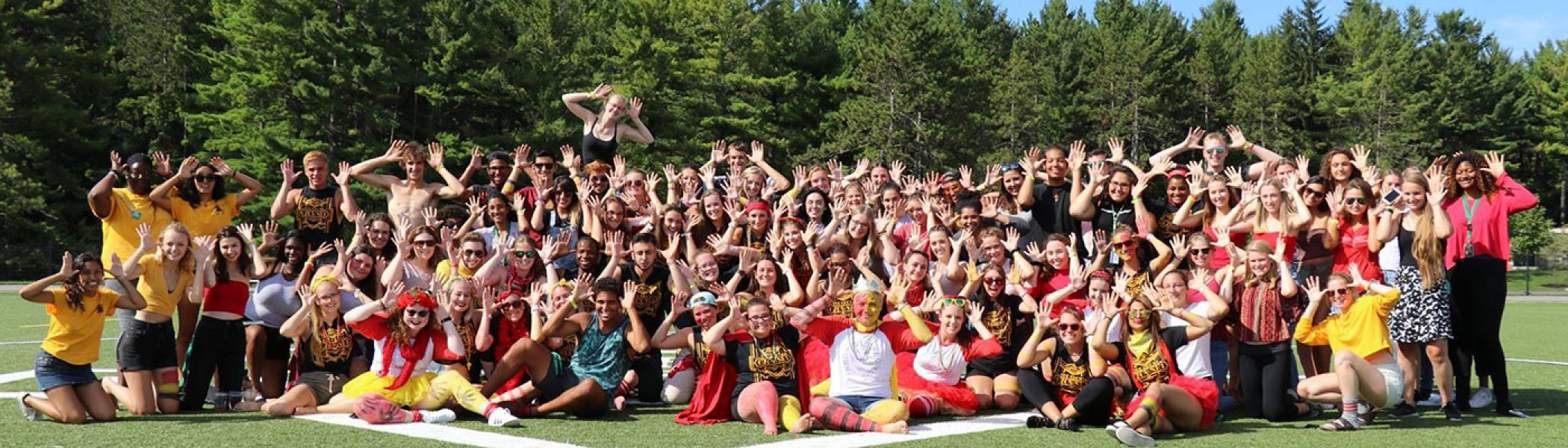 Group picture of the Gzowski Orientation Team and students at the Closing Ceremony