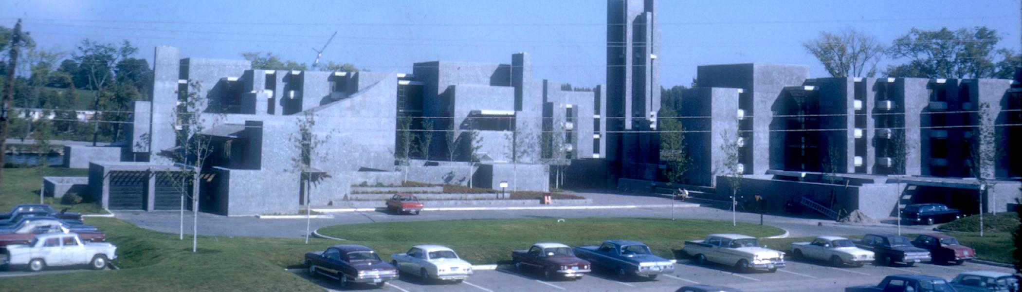 An old photo of Champlain College