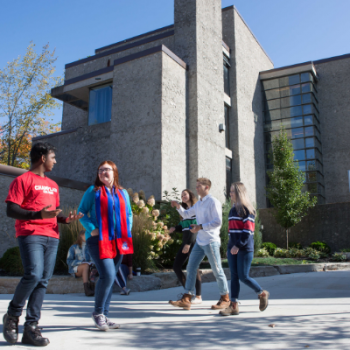 Champlain College with students