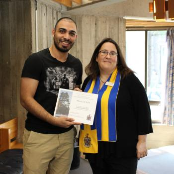 Student and advisor at Honours Reception