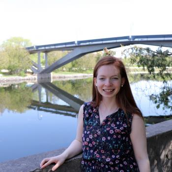 Natalie Nelson posed in front of Faryon Bridge