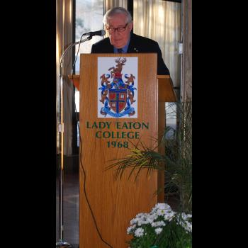 Tom Symons at the 40th Anniversary of Lady Eaton College