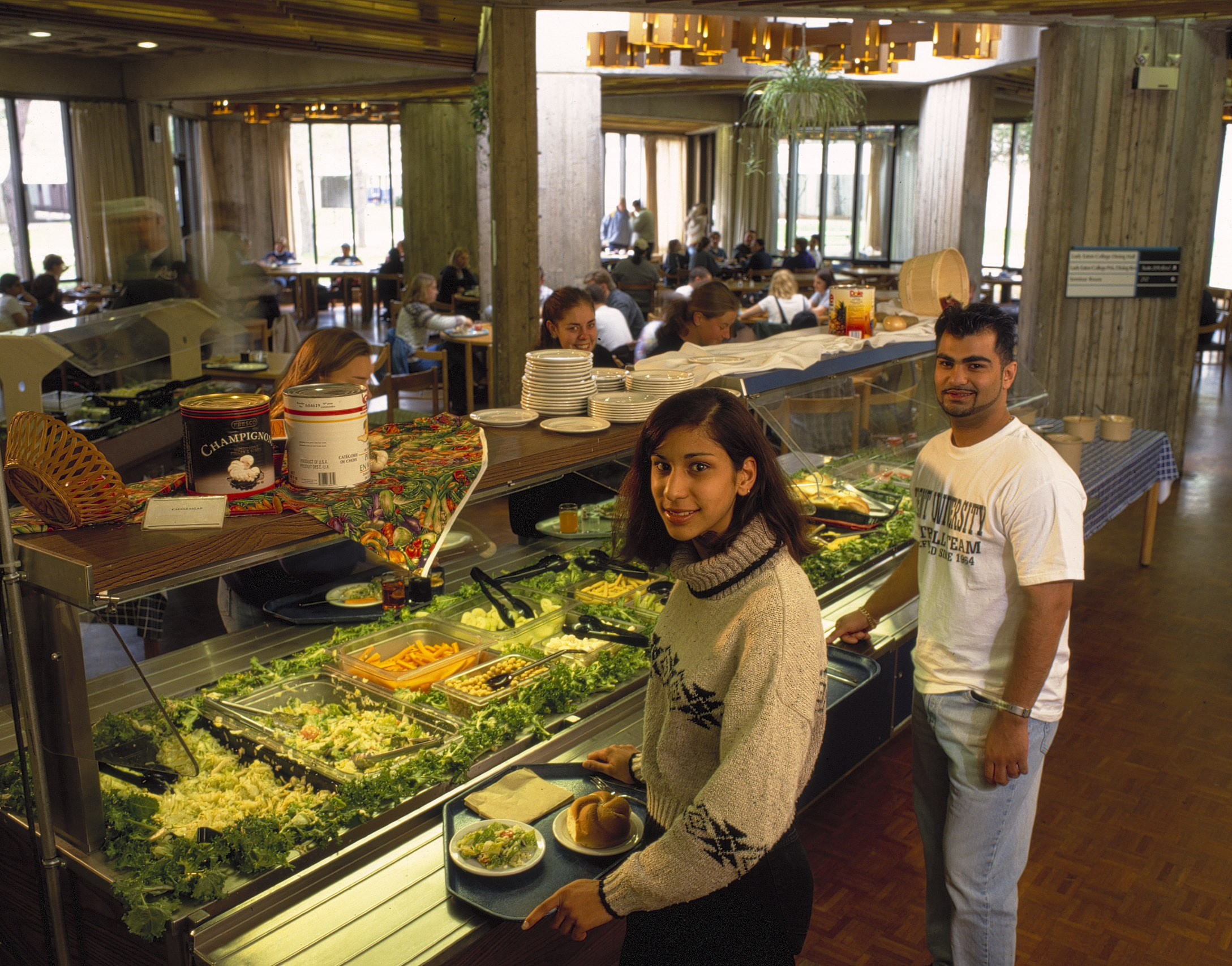 Buffet service at Lady Eaton College Dining Hall