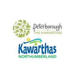 The logos of Peterborough Tourism and Kawarthas Northumberland