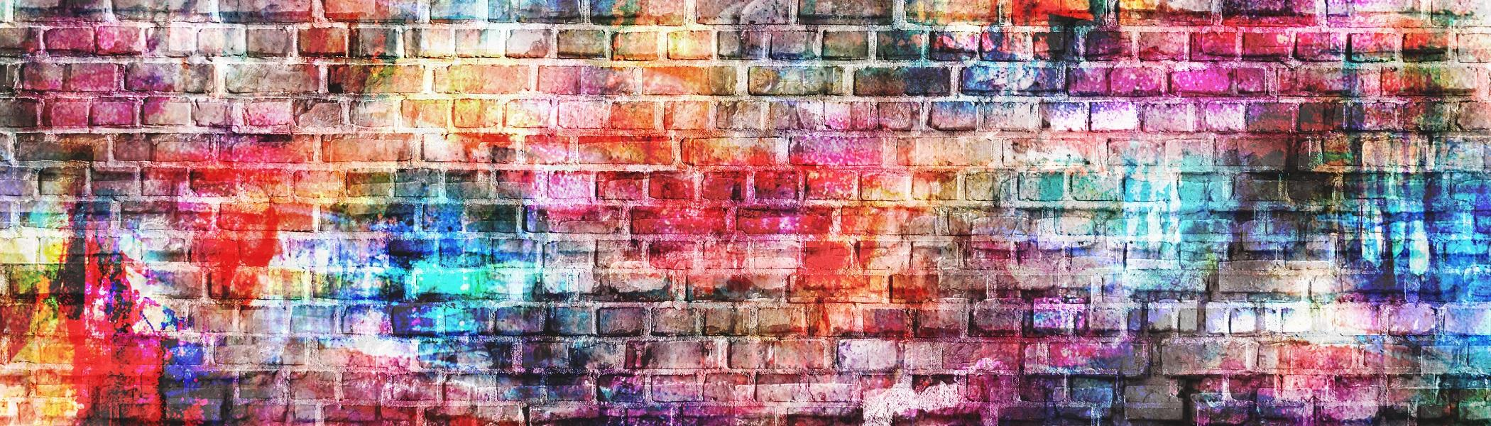 Colourful bricks.