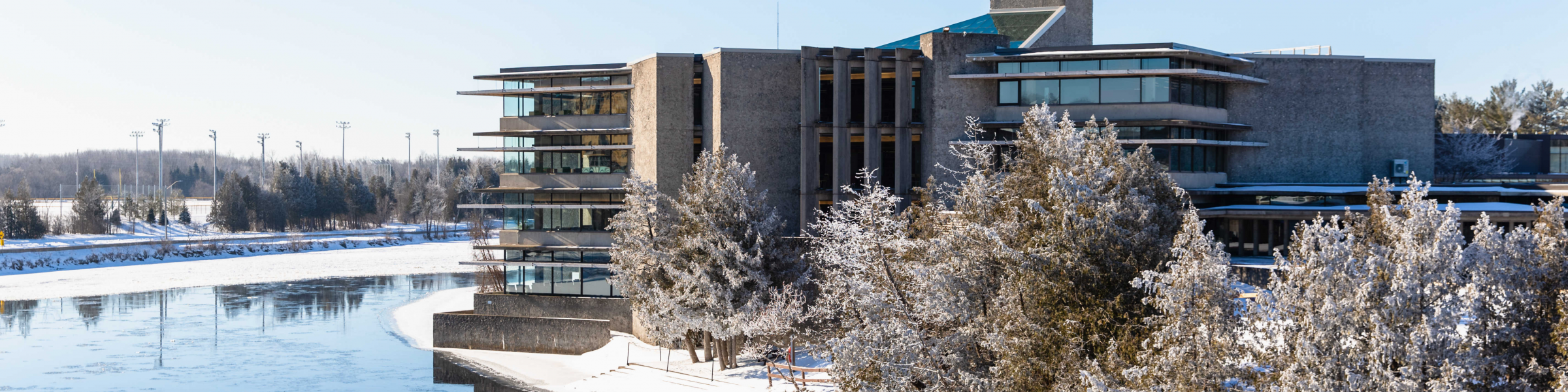 Bata Library view in winter