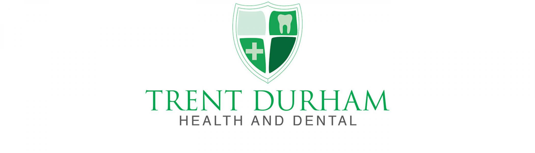 Trent Durham Health and Dental logo on the white background