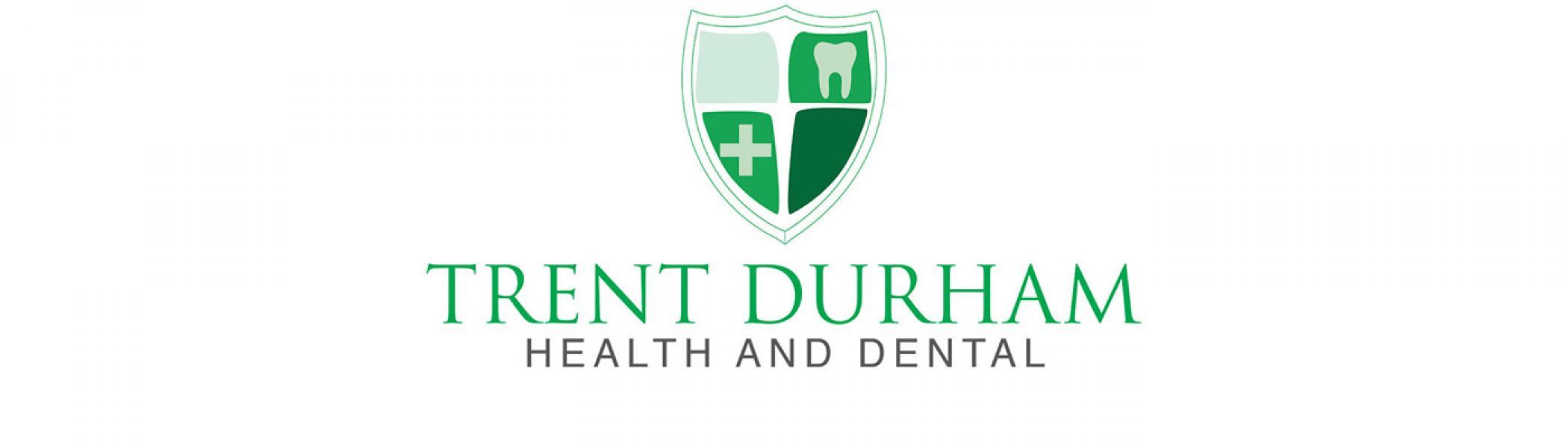 Trent Durham Health and Dental logo on the white background