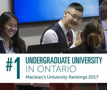 #1 Undergraduate University in Ontario
