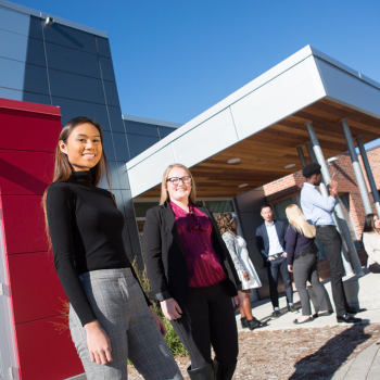 Durham Students outside of the Trent Durham GTA Campus