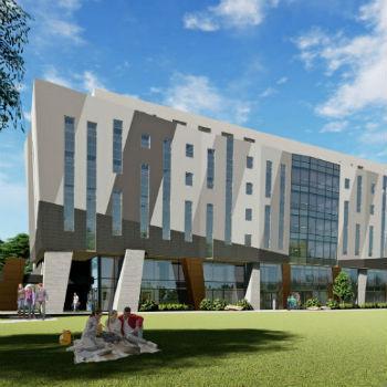 Durham expansion building rendering.