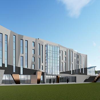 Artist's rendering of new building in Trent Durham GTA