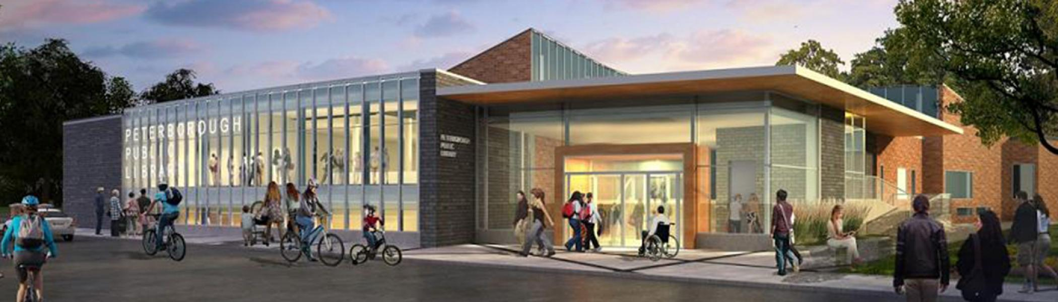 architect drawing of the new PTBO public library