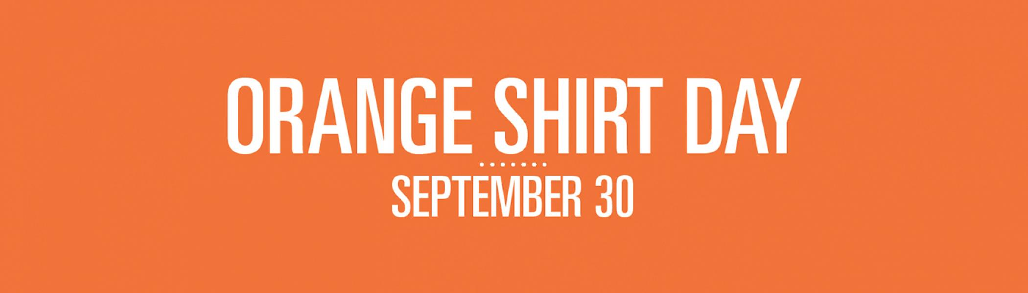 orange colour background with Orange Shirt Day, September 30th as text