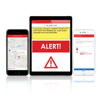 Alertus mobile app preview