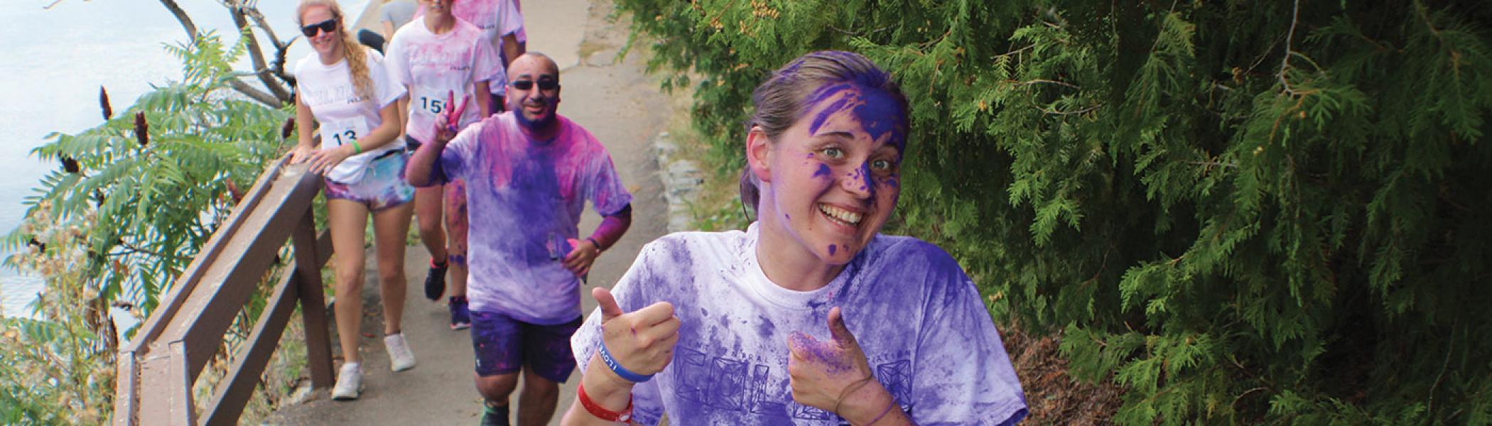 International students participate in Colour Run
