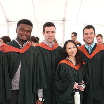 International students at Convocation