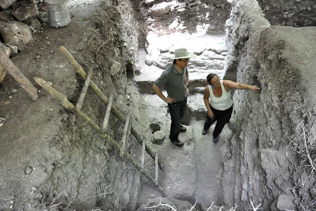 Belize Field School, led by Dr. Helen Haines, provides students with the opportunity to excavate an ancient Maya ruin
