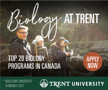 Biology at Trent. Top 20 Biology Programs in Canada