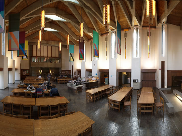 Interior of Champlain College's Great Hall