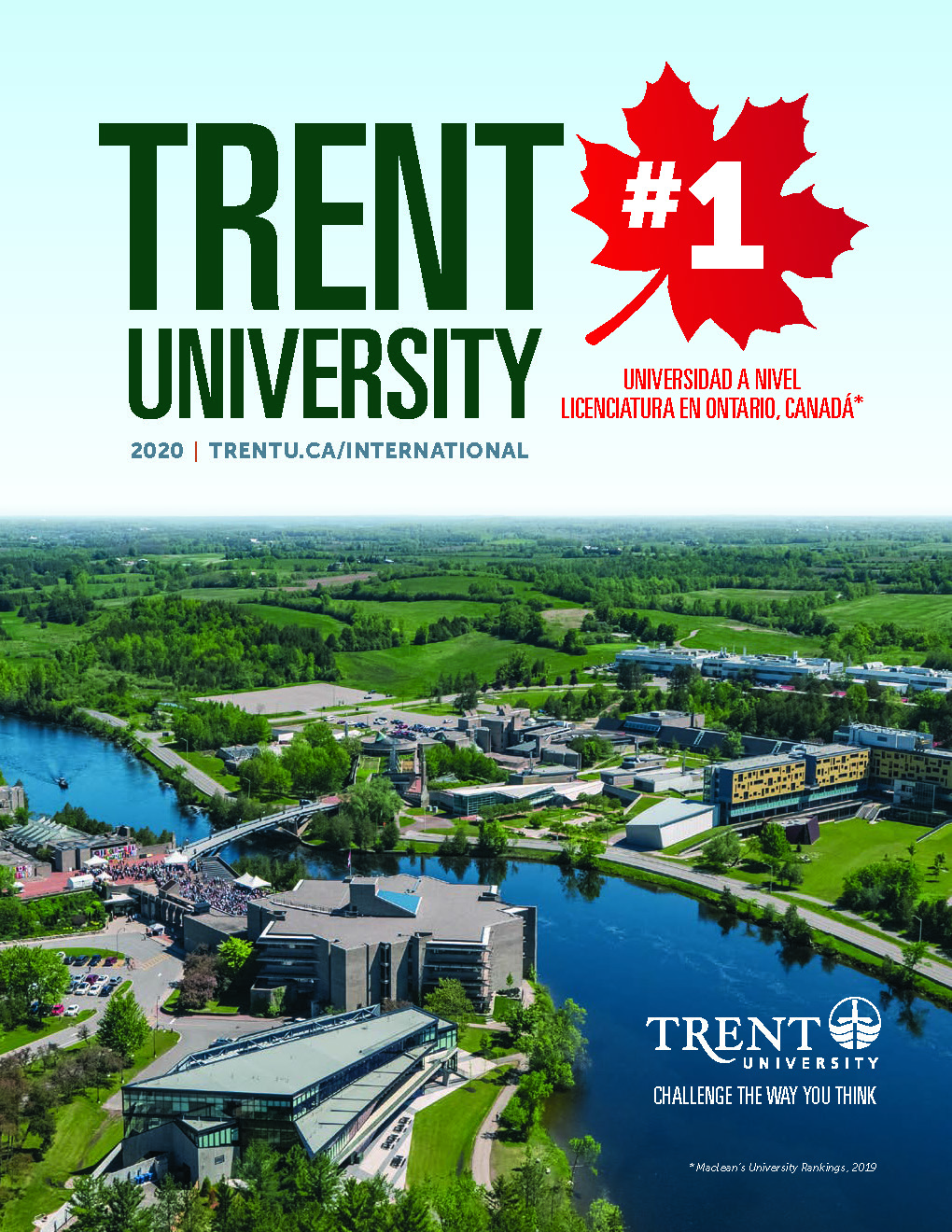 The cover of the Spanish version of the Trent International viewbook