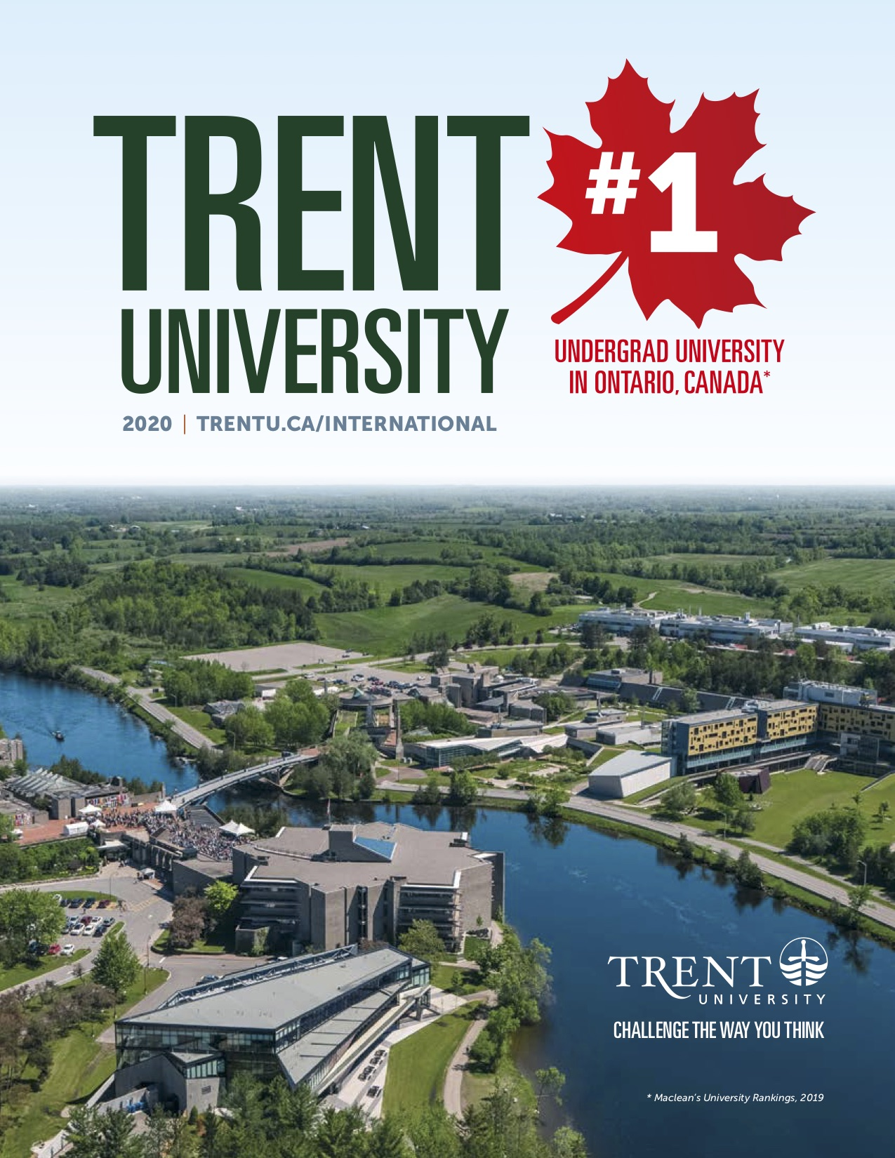 The cover of Trent International Viewbook