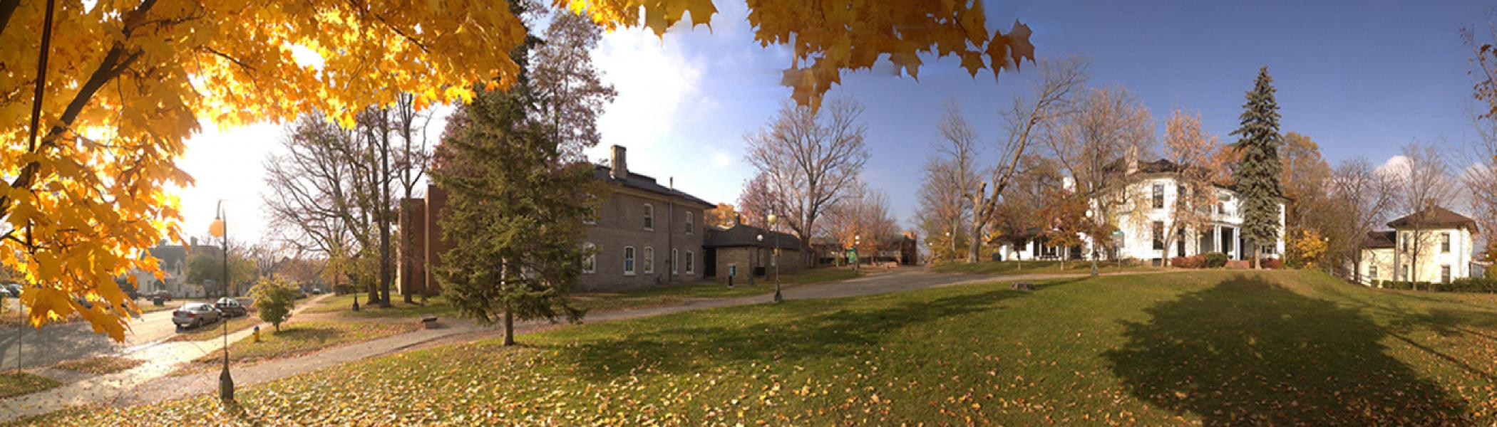 Panoramic view of Catharine Parr Traill College