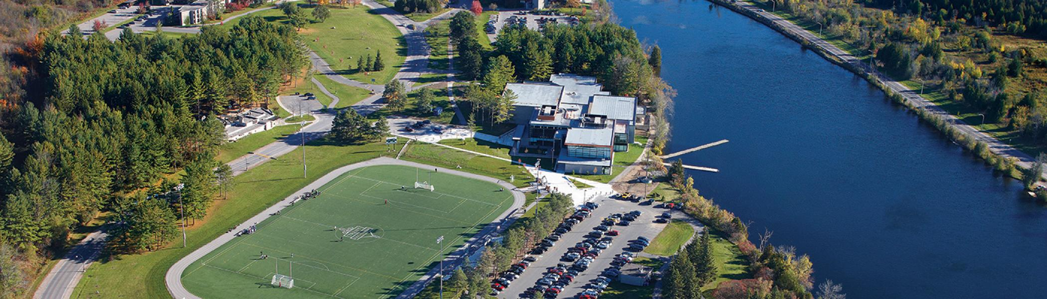 Aerial shot of Peterborough Campus