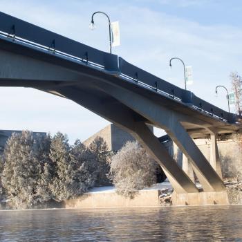 Faryon bridge in winter